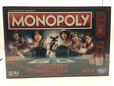 Monopoly Stranger Things Special Edition Hasbro Board Games Netflix