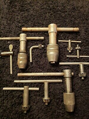 VINTAGE JACOBS, GENERAL PRECISION DRILL CHUCK LOT with keys and shafts