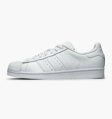 ADIDAS SUPERSTAR FOUNDATION Originals Bianco B27136 Pelle