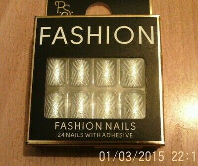 Fashion  False Nails - 24 Nails With Adhesive
