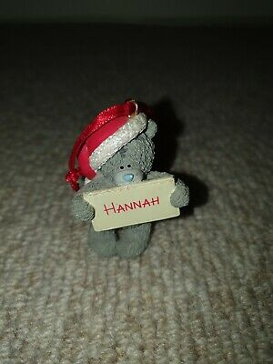 Me To You Tatty Teddy Figurine Ornament Merry Christmas 'Hannah'