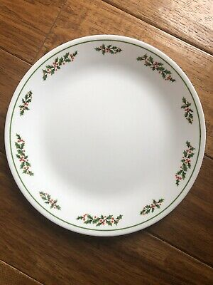 Corelle By Corning Set Of 4 Winter Holly Christmas Dinner Plates