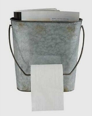Bucket*Toilet Paper Holder/Magazine Rack*Primitive/French Country/Farmhouse*New!