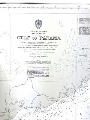 Admiralty Gulf of Panama Nautical Chart #1929 USED Printed 1998 in UK