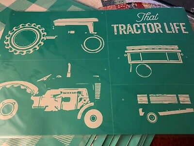 Chalk Couture Transfer, Vintage Tractor Retired