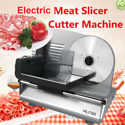 150W Electric Meat Food Slicer Veggie Fruit Bread Cheese Cutter Deli Kitchen New