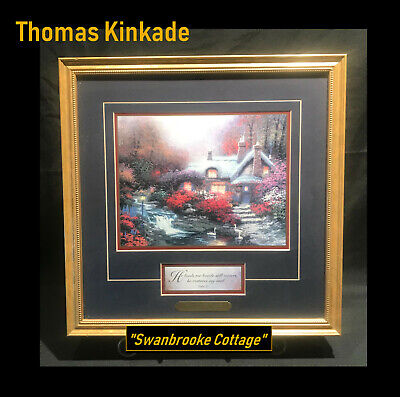 "Thomas Kinkade Framed Print - Swanbrooke Cottage 14-1/2 x 14-1/2"" 'PSALMS 23'"