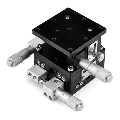 XYZ 3-Axial Linear Stage Trimming Platform Bearing Tuning Sliding Table 60x60mm
