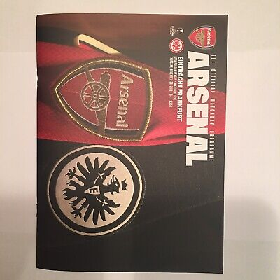 Arsenal v Eintracht Frankfurt Match Day Programme & Team Sheet 28th Nov 2019