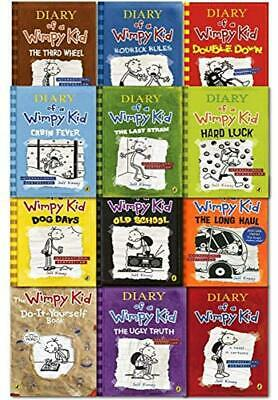 Diary Of A Wimpy Kid Collection 12 Books Set By Jeff Kinney(2019,Digitaldown)