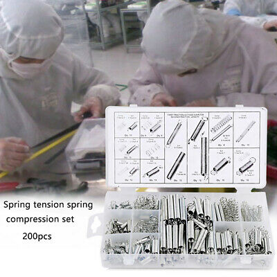 200pcs Tension Accessories Spring Set Metal Steel Coil Extension And Compression