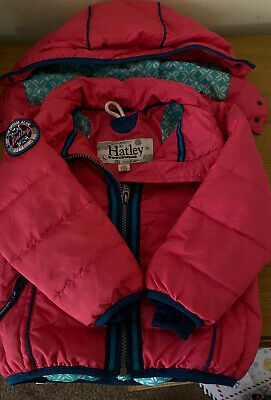 Girls Hatley Padded Winter Coat Size 3 Excellent Condition