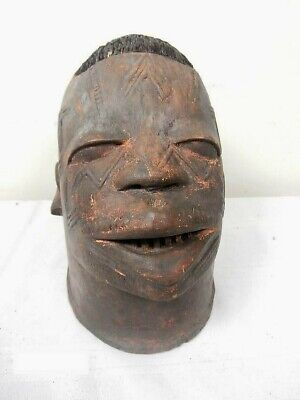African Makonde Lipico Helmet Mask from Mozambique Was $395