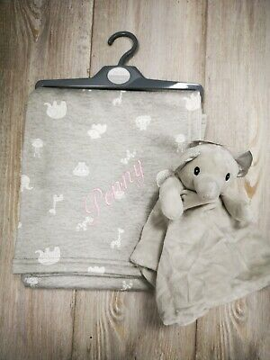 PERSONALISED blanket and comforter gift set Elephant 3 colors NEW 2020