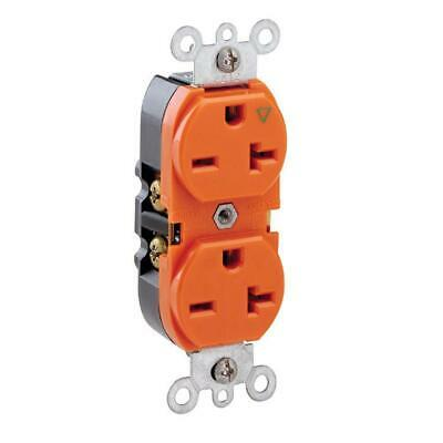 Leviton 20 Amp Industrial Grade Heavy Duty Isolated Ground Duplex Outlet
