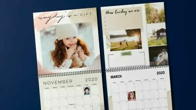 Shutterfly 8 x 11 Wall Calendar   expire 1/31/20   code starts with CCDG