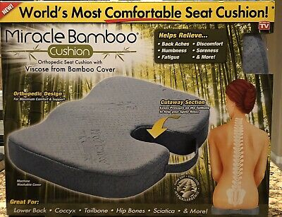 Miracle Bamboo Seat Cushion Orthopedic Design As Seen On TV