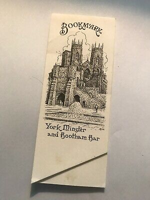 Cardboard bookmark. Yorkminster And Booth am Bar.
