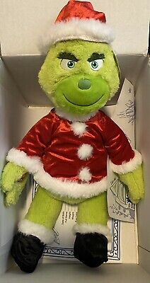 """NEW W/Tags Official BUILD-A-BEAR Grinch 19"""" Santa Suit & 6-in-1 Saying SOLD OUT"""