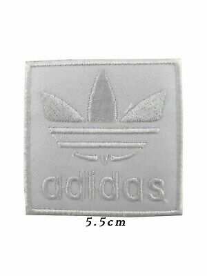 EMBROIDERED ADIDAS Sports Logo IronSew on patch black /& red A8