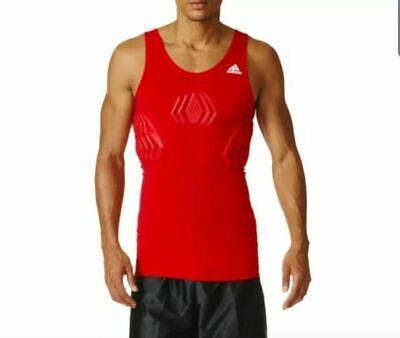 $55 Adidas Techfit Basketball Padded Compression Tank Men's Size 2XL Red S05380