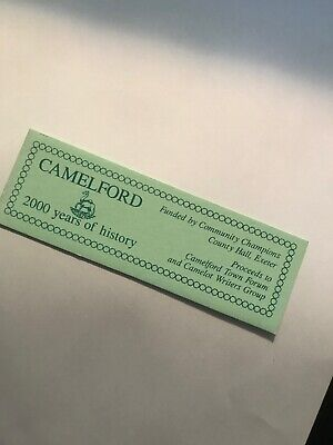 Cardboard bookmark. Camelford. 2000 Years Of History.