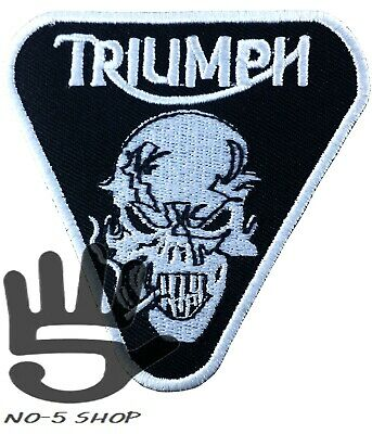 Triumph motorcycle embroidered ironsew on patch  triumph A139