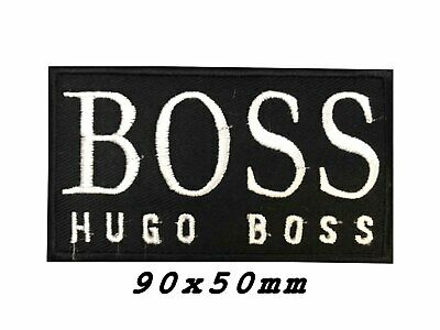 Boss Hugo Luxury Fashion House Black and White Iron on Sew on Embroidered Patch