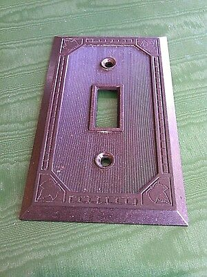 Vintage Amalgamated Switch Plate Cover Brown Single Toggle Cat 5941 Wall Light