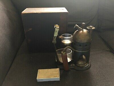 Vintage CODMAN & SHURTLEFF Steam Atomizer w/ Wood Box 1860's QUACK MEDICINE