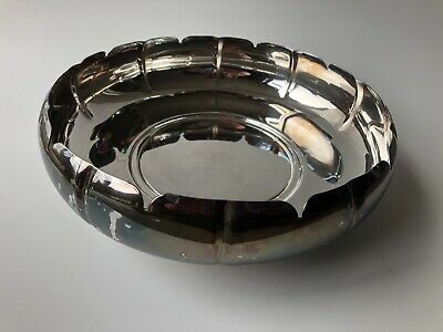 """Vintage Newport by Gorham 10"""" Silverplate Footed Bowl YB25"""