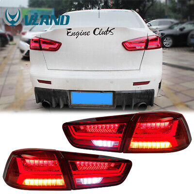 VLAND LED Tail Lights For 2008-2017 Mitsubishi Lancer / EVO Sequential Turn Lamp