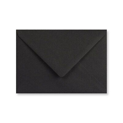 C7 A7 BLACK Coloured Envelopes 82mm x 113mm Party Invitations Crafts
