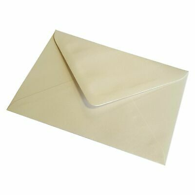 C7 A7 PEARL OYSTER WHITE Coloured Envelopes 82mm x 113mm Party Invitations Craft