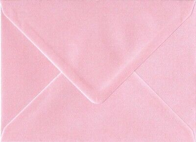 C7 A7 PEARL PINK Coloured Envelopes 82mm x 113mm Party Invitations Crafts