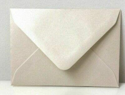 C7 A7 PEARL IVORY Coloured Envelopes 82mm x 113mm Party Invitations Crafts
