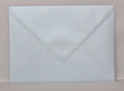 C7 A7 PEARL BLUE Coloured Envelopes 82mm x 113mm Party Invitations Crafts