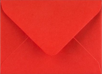C7 A7 Poppy Red  Coloured Envelopes 82mm x 113mm Party Invitations Crafts