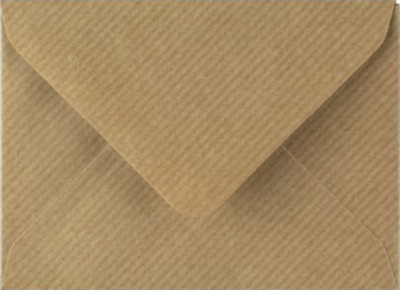 C7 A7  Brown Ribbed Coloured Envelopes 82mm x 113mm Party Invitations Crafts