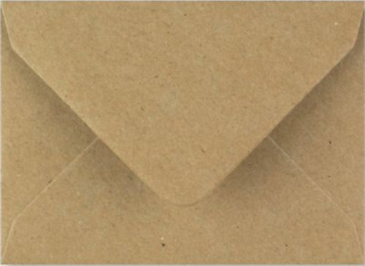 C7 A7 Brown Fleck Kraft Coloured Envelopes 82mm x 113mm Party Invitations Crafts