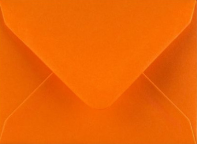 C7 A7 ORANGE Coloured Envelopes 82mm x 113mm Party Invitations Crafts