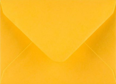 C7 A7 GOLDEN YELLOW Coloured Envelopes 82mm x 113mm Party Invitations Crafts