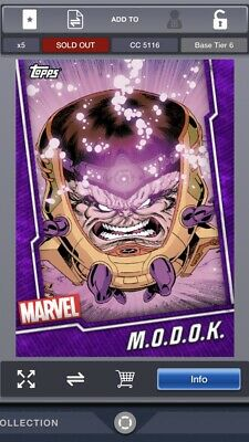 Topps Marvel Collect M.O.D.O.K. Tier 6 Purple Fusion Base 5116cc