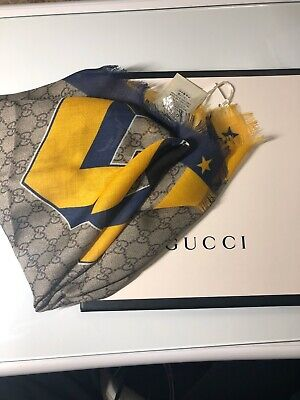 🎁NEW Genuine Gucci Boys Scarf Size 70x70 cm