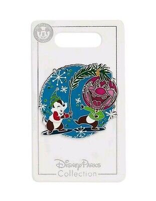 Disney Parks 2019 Chip & Dale Ornament Holiday Christmas Trading Pin. New.