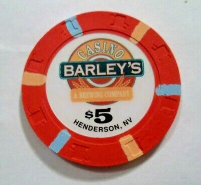 Barleys $5 Casino Poker Chip Henderson Nv Nevada