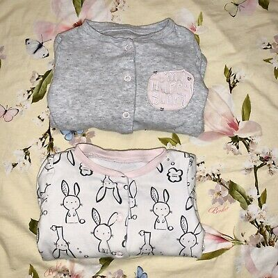 Bundle Of 3-6 Months Baby Girl Mothercare Sleepsuits / Babygrows