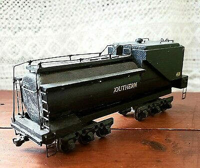 "Antique Primitive TRAIN HO Model ""Southern 40"" Early SOLID WOOD & Metal Folk Art"
