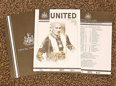 Newcastle United vs Manchester City Programme with official teamsheet 30/11/19!