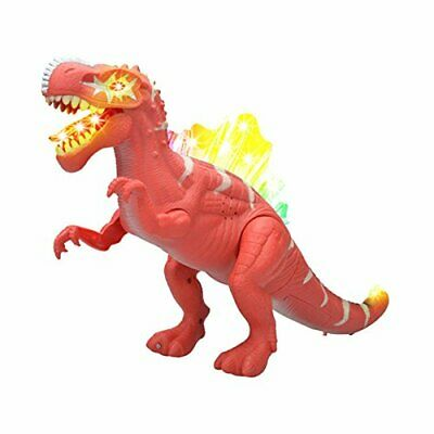 Walking Dinosaur Spinosaurus Toy Figure With Lights & Sounds Real Movement Red